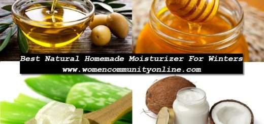 Natural Homemade Moisturizer