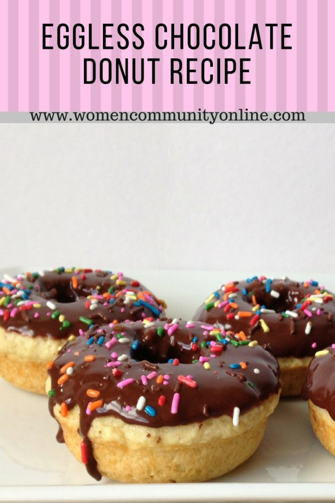Eggless Chocolate Donut Recipe