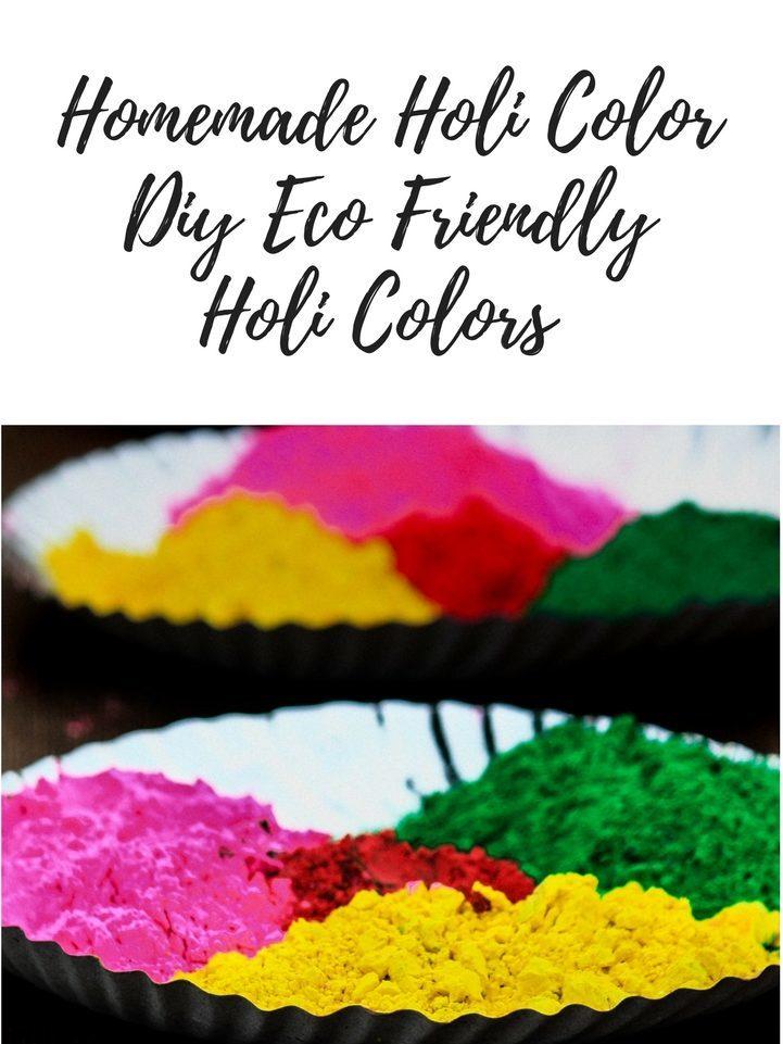 Diy Eco Friendly Homemade Holi Color Powder Women